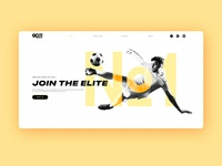 Landing page for Football Agency