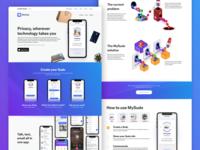 MySudo Website Homepage Design
