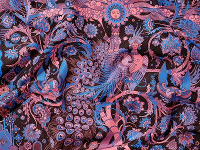 Garden of Eden. Fragment design sventana vector illustration