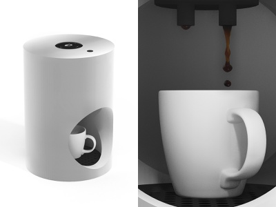 Coffee Machine | concept design industrial sketchup render 3d cup coffee