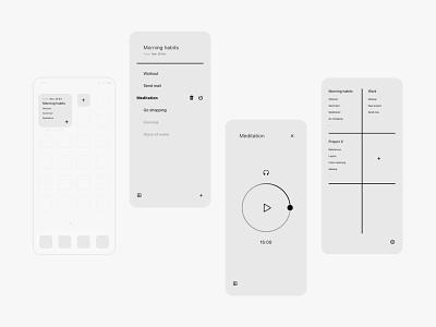 note & habits app concept ui  ux app design habits note minimal branding ui icon app app concept app