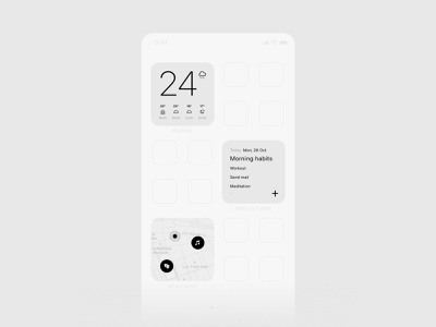 widgets app concept №1 ui  ux ios14 iphone minimal design donate habits weather widgets appconcept app