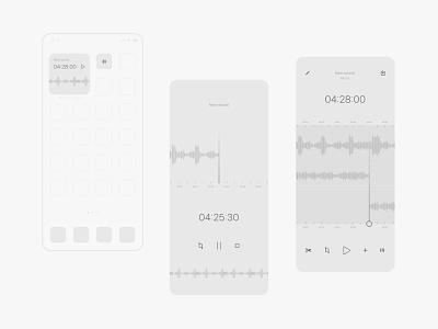 record & edit app concept music app audio podcast minimal widgets icon logo ux ui design voice voice record record app record edit app app ui app app concept