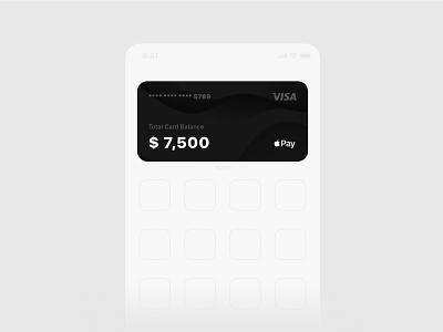 bank widget concept minimal design branding icon ui ux iphone ios14 app concept app design app mobile banking card bank card bank app bank banking