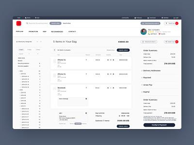 Order Management store webdesign website web ux ui logo graphic design