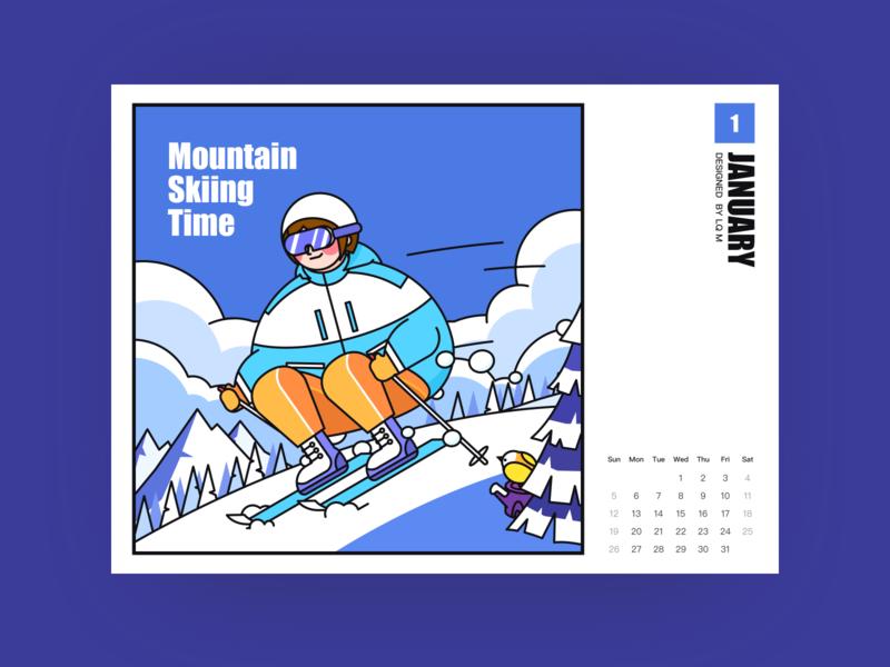 Bird Series-Mountain Skiing Time