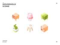 Isometric Household Icons