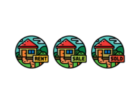 Real estate badges.