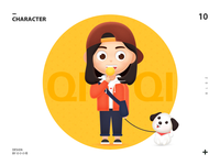 QIQI and her dog