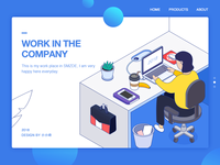 Isometric Illustration—workplace