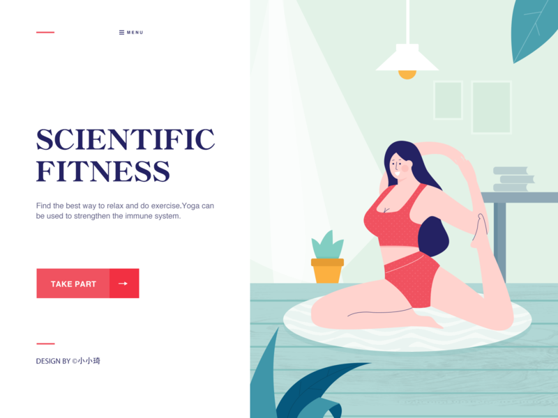Scientific Fitness banner design ui illustration web fitness yoga