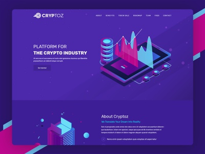 Cryptoz | ICO, Bitcoin And Crypto Currency HTML Template website psd template crypto cryptocurrency inspiration design html template