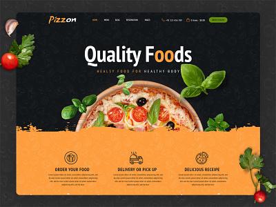 Pizzon | Pizza Restaurant & Cafe HTML Template web templates coder website ux ui inspiration html template design flat psd template