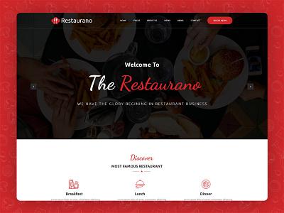 Restaurano | Restaurant HTML Template restaurant template pizza website animation templates coder flat design web inspiration website html template psd template