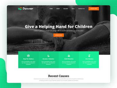 Danveer | Charity & Fund Raising Responsive HTML5 Template web ux ui typography website templates coder psd template flat design