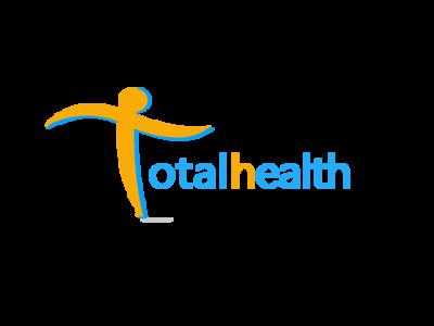 Total Health healthcare letter logo