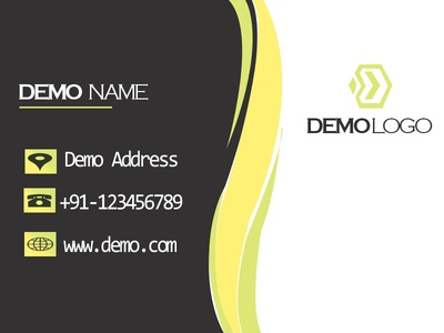 Business Card Back photoshop demo visiting card business card