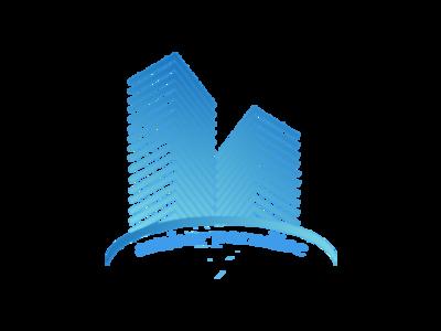 Real Estate Logo gradiant building simple design real estate logo