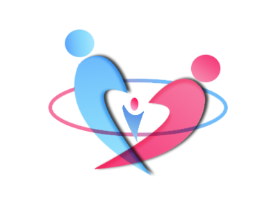 Family concept gradiant photoshop logo family