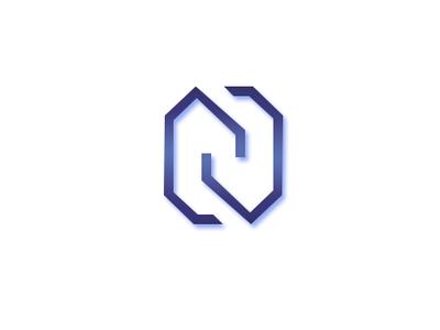 N gradiant photoshop logo alphabet