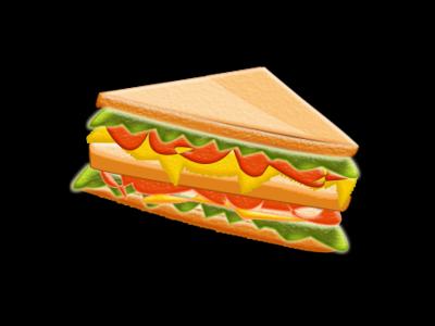 Sandwich colorful sandwich graphic photoshop