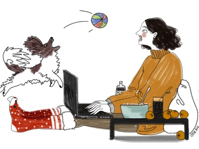 Dog 2021 dog girl digital art drawing illustration