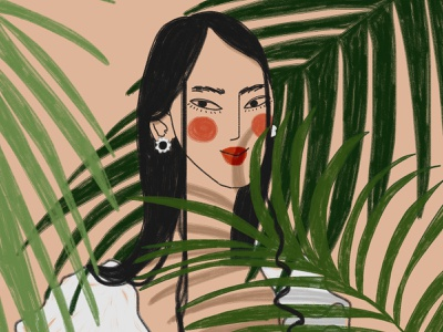 8 March: Asian woman 1 8 march happy womens day woman smile flowers girl digital art drawing illustration