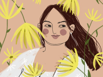 8 March: Fat woman 8 march happy womens day happy woman girl digital art drawing illustration
