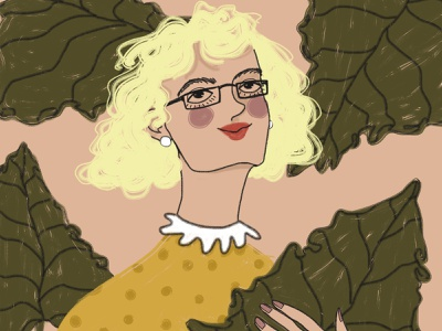 8 March: Blond woman happy womens day 8 march woman girl happy digital art drawing illustration