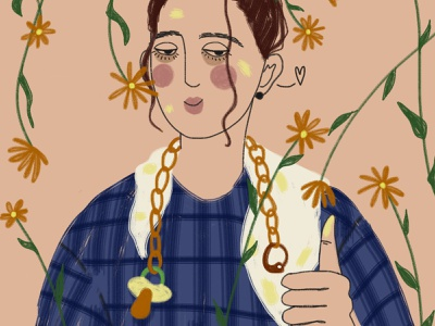 8 March: Mother :)) 8 march happy woman flowers girl digital art drawing illustration