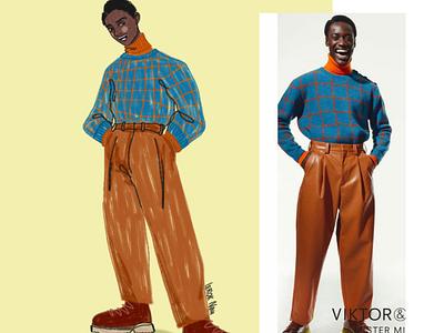 Part 2 smile fashion man digital art drawing illustration