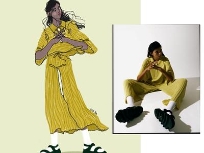 Part 3 fashion design woman digital art drawing illustration