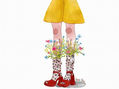 Flowers flowers digital art drawing illustration