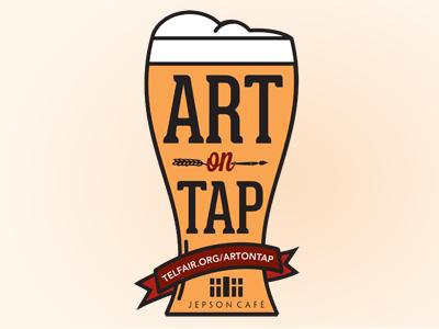 Art On Tap vector beer illustration