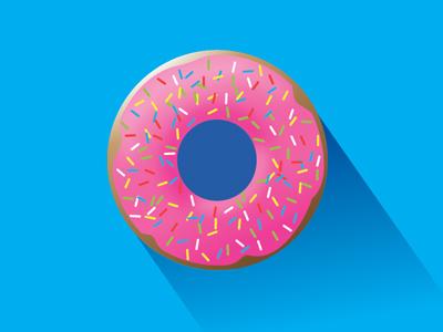 Donut omnomnom sprinkles vector pink blue