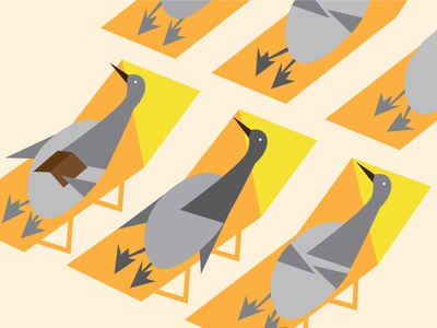 6 Geese A Laying  christmas geese tanning illustration vector orange grey 12 days yellow