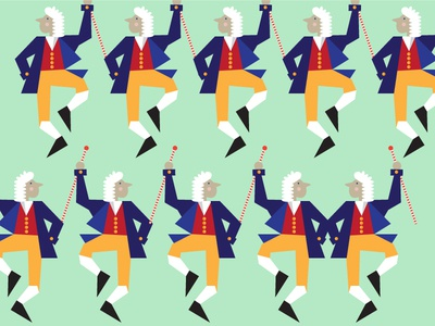10 Lords A Leaping vector illustration wigs 12 days christmas lords leaping canes