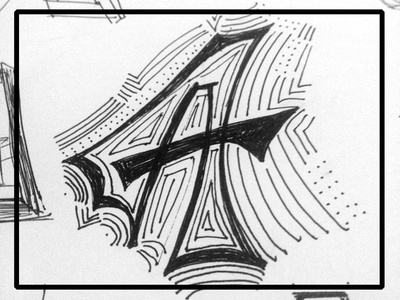 A a letters typography sketching typefight creative south