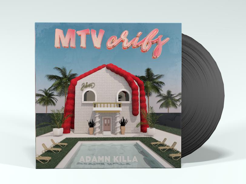 MTV Cribs vinyl mockup music design design motion graphics cinema4d