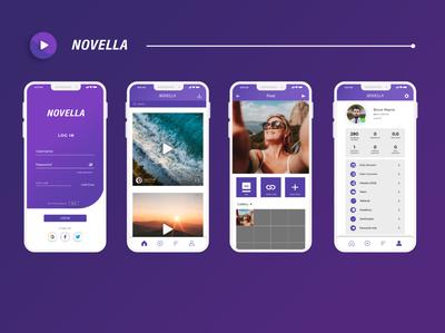 Novella app UI design ux web branding illustrator logo ui