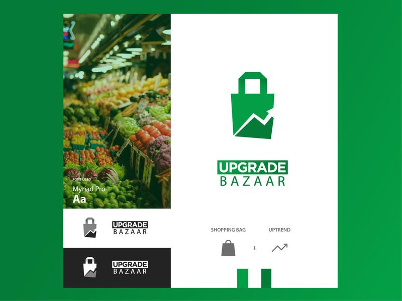 upgrade bazaar LOGO website vector photoshop app ux ui design illustrator logo branding