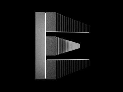 36 Days of Type - E redshift logo type monochrome design typography minimal clean cinema4d c4d branding black 3d 36daysoftype07 36dayoftype 36daysoftype