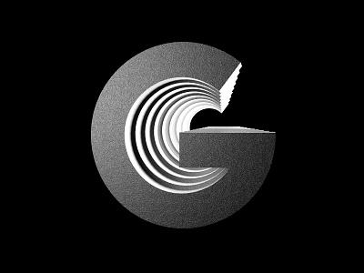 36 Days of Type - G typography design letter 36 days 36daysoftype c4d type art logo typographic 36dayoftype redshift 3d type monochrome black design typography minimal clean