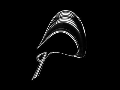 36 Days of Type - P chrome metal logo letter black redshift 36dayoftype 36daysoftype07 36daysoftype minimal monochrome design typography
