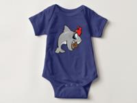 Sharkey baby bodysuit
