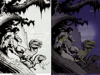Mark Schultz coloring exercise comic book colorist coloring