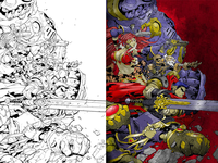Battle Chasers Coloring Test