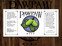Pawpaw Mead Label