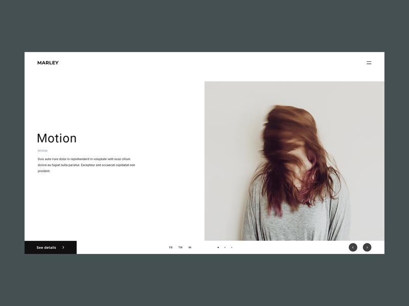 MARLEY – Home Page 2 web design webdesign themeforest envatomarket envato photoshop motion portfolio feedback digital agency ux ui design