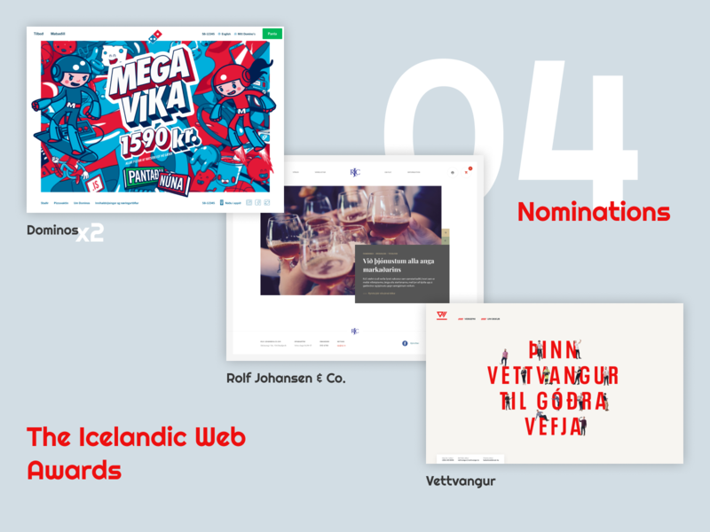 4 nominations - The Icelandic Web Awards humblebrag iceland awards nomination
